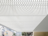 white Aluminum mesh ceilings