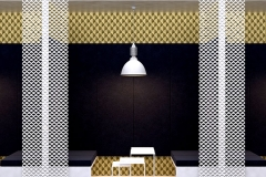 expanded metal mesh decorations clothing store