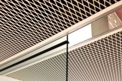 expanded metal mesh ceilings in shopping mall