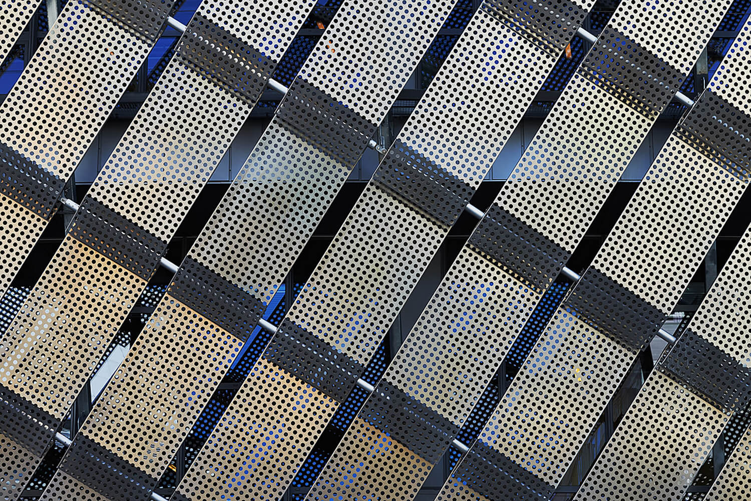 the perforated metal plates