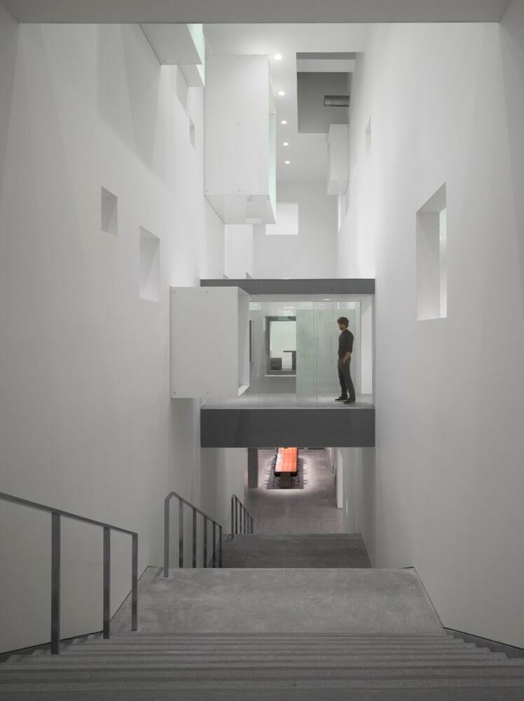 atrium and stone stairs
