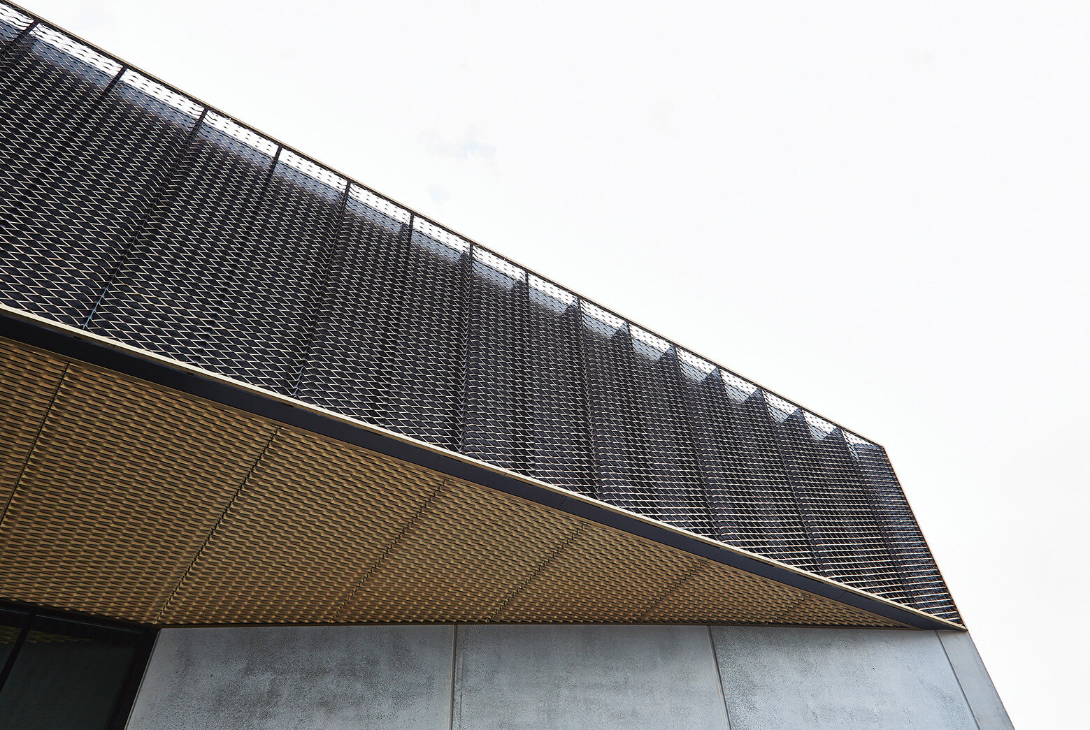 expanded metal facade
