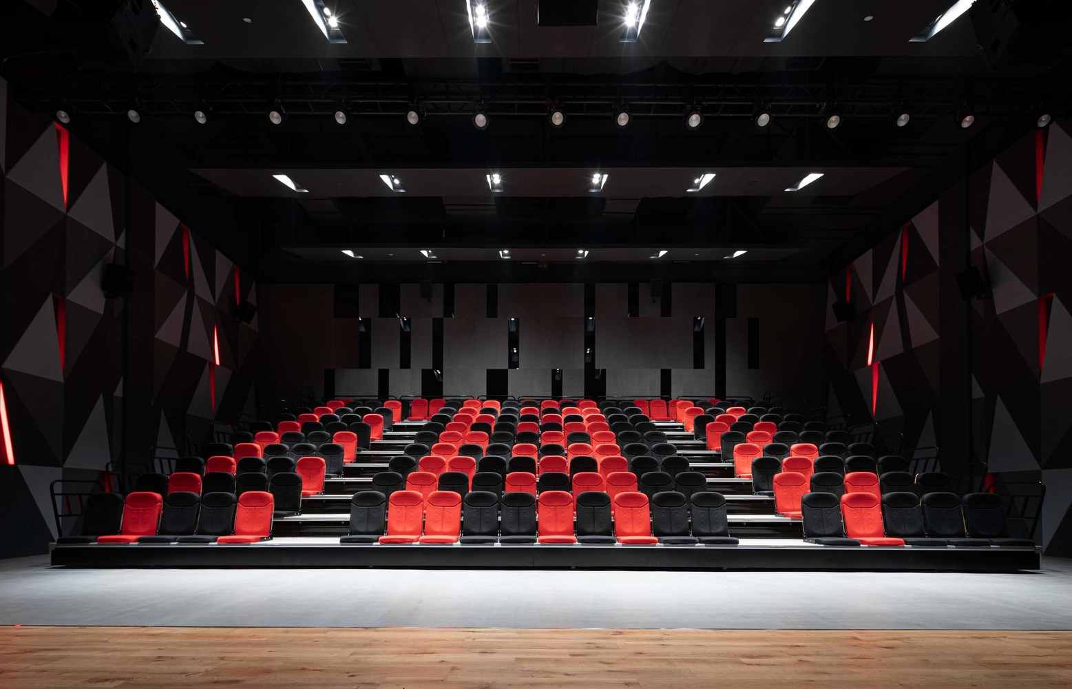 the theater in red and black