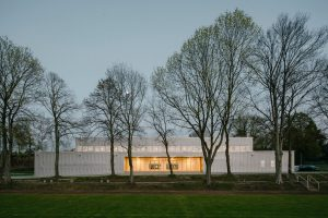 Two-Field Sportshall  in expanded metal facades