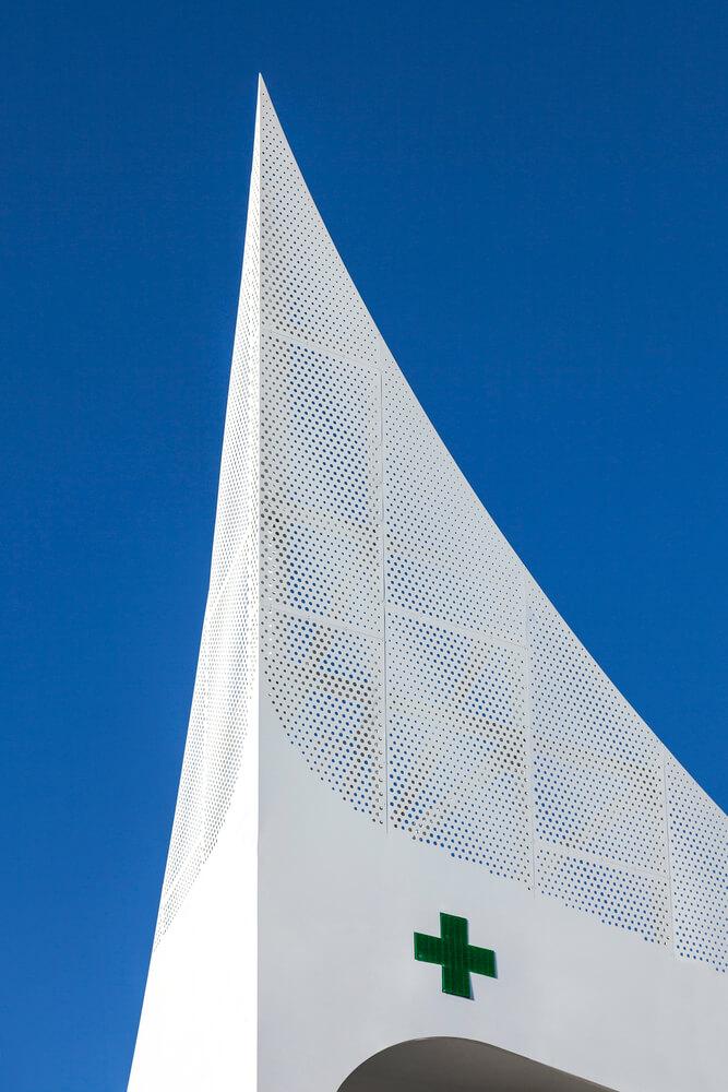 triangular spire