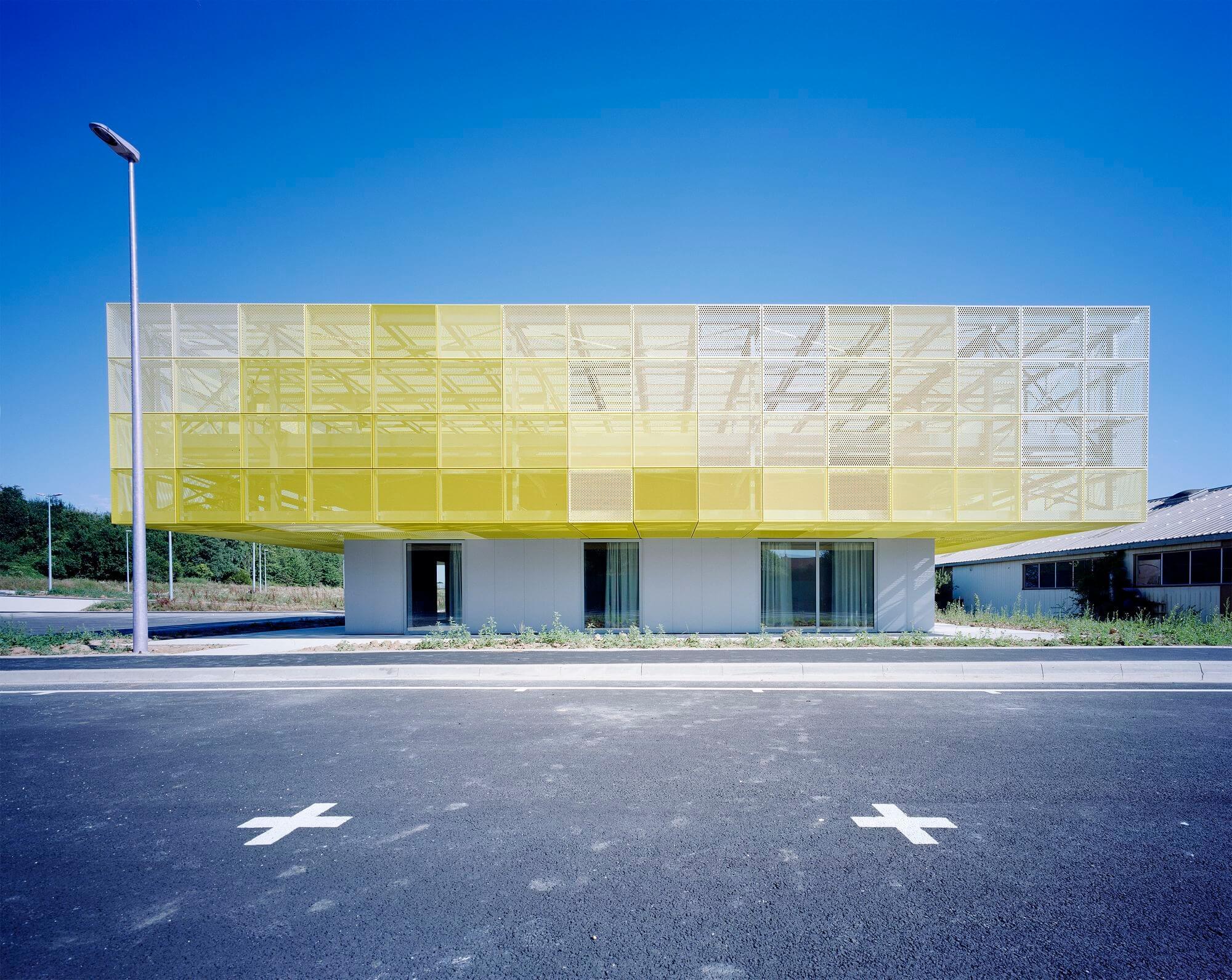 yellow aluminum structure