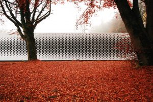Formstelle office block covered with expanded metal